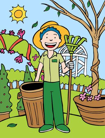 Gardener Cartoon Vector
