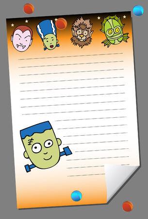 pad: halloween pad Illustration