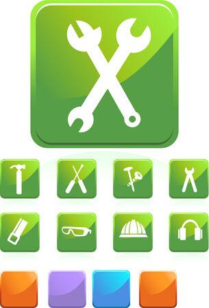 Tool Icon Set Stock Vector - 5446077