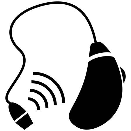 hearing aid: hearing aid icon Illustration