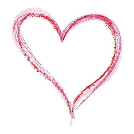 Crayon hart Stock Illustratie
