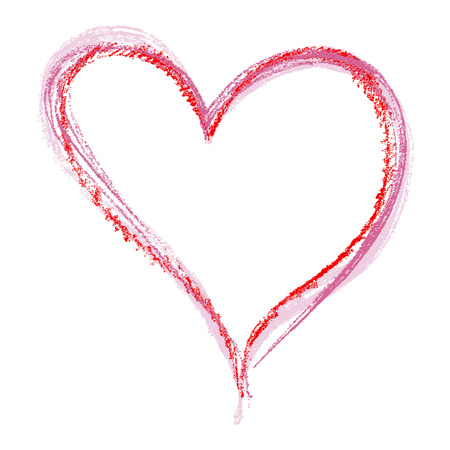Crayon Heart Foto de archivo - 5446109