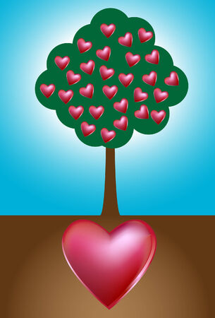 heart tree Ilustração