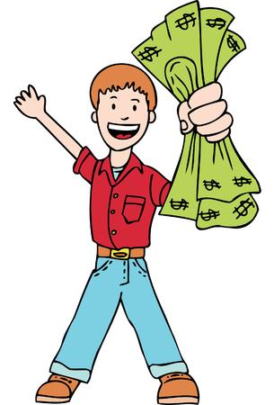 holding cash
