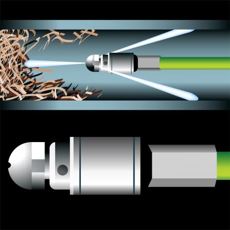 plumbing: herramienta de plomer�a de tuber�a obstruida