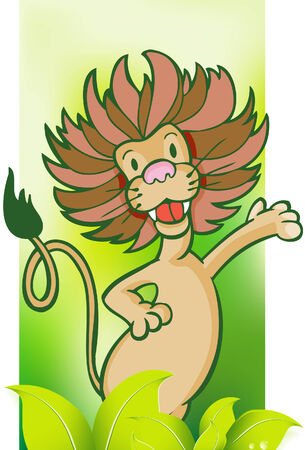pouch: Lion Jungle Background Illustration