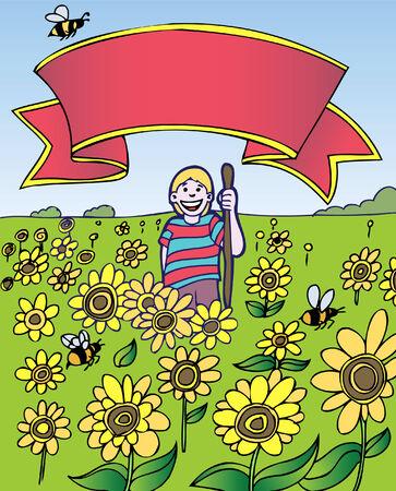 zonne bloem veld