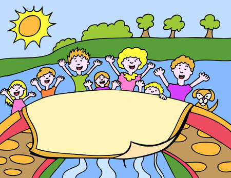 Park Kids Vector
