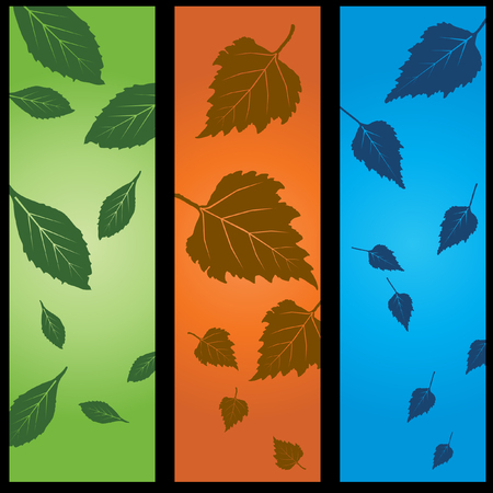 triptych: Autumn Leaves