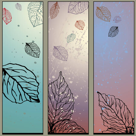 triptych: Autumn Leaves Paint