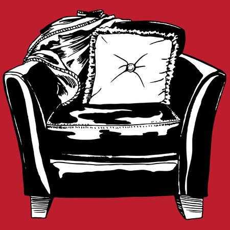 leather chair: Sedia in pelle Vettoriali