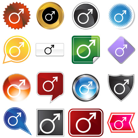 Mars planetary sign icon set Stock Vector - 5471617
