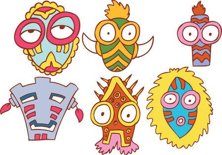 tribal mask: tribal mask set