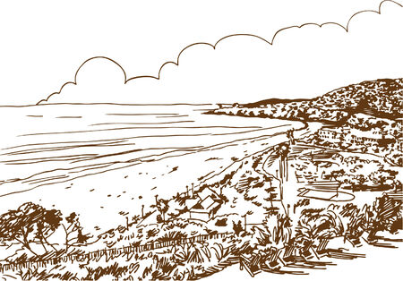 laguna: Laguna Beach Illustration