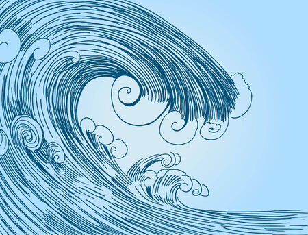 Blue Tsunami Stock Illustratie