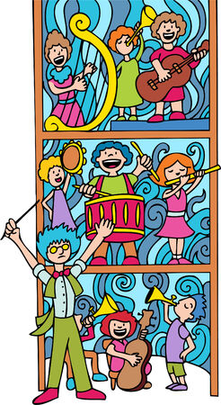 Orchestra Band Stock Vector - 5485293