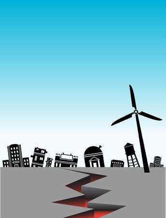 earthquake city Ilustração