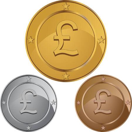 pound: pound coin Illustration