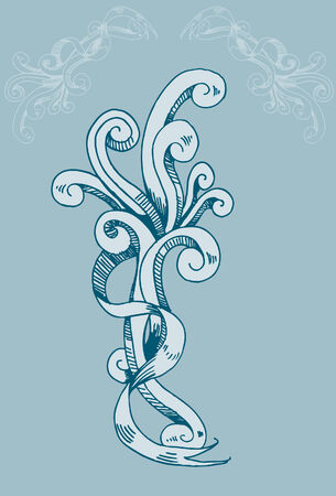 snake calligraphy: Vintage Background Element