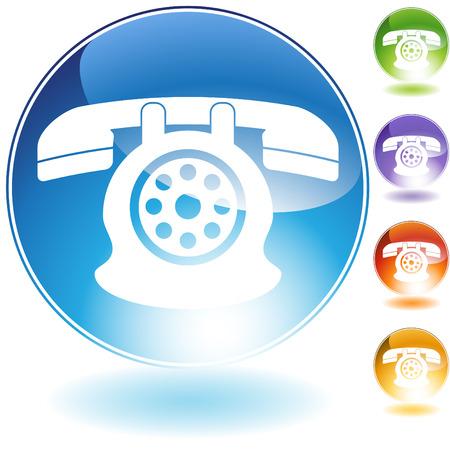 telephone icons: rotary phone
