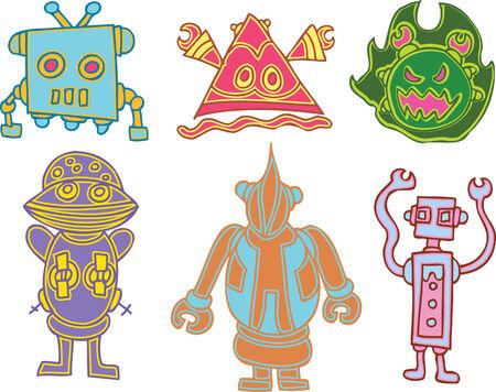 robot alien set Stock Vector - 5513919