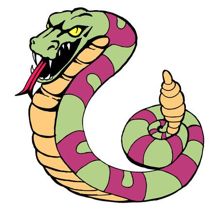 Serpiente de cascabel Foto de archivo - 5513927