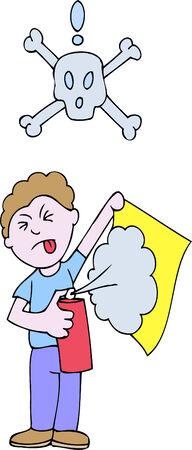 dangerous man: spray mount toxic