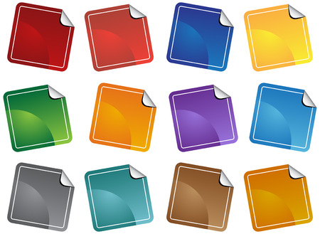 Sticker palet Icon Set Stock Illustratie