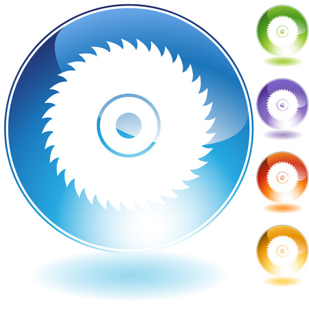 circular saw blade crystal Stock Vector - 5540874