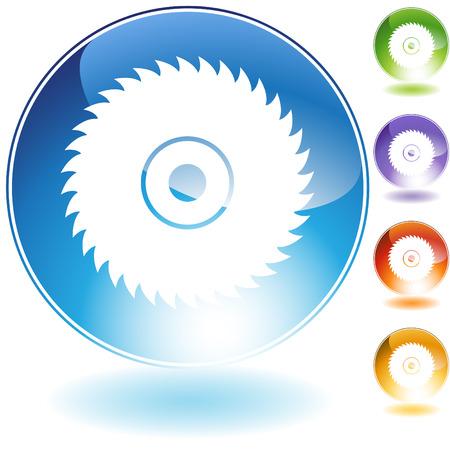 cirkel zaag blad kristal  Stock Illustratie