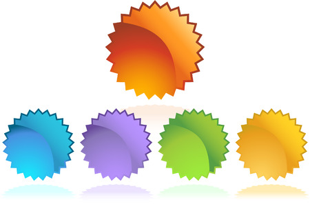 starbursts: conjunto de pegatina de brote estelar  Vectores