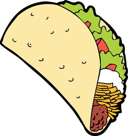 taco cartoon Stock Vector - 5540883