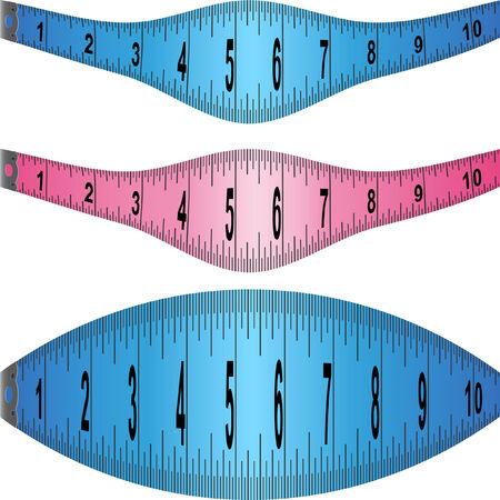 Stretching Measuring Tape Illustration