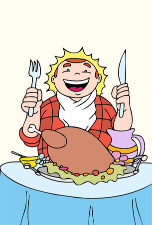 feast: turkey feast Illustration