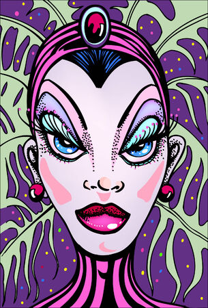 drag queen: vegas showgirl Illustration