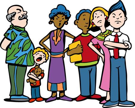 interracial: Personas esperando en l�nea