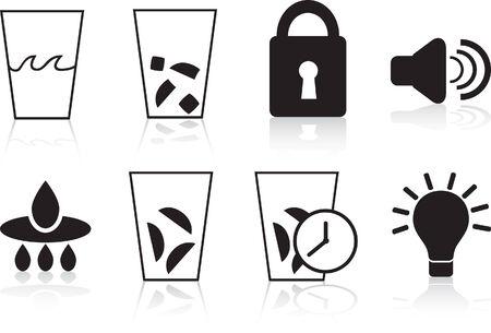 dispenser icon set