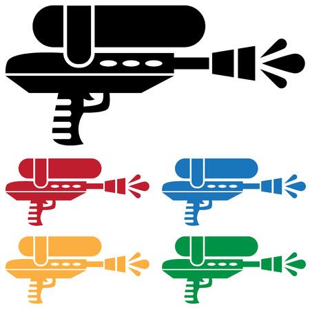 Water pistool pictogram Stock Illustratie