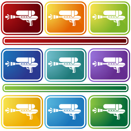 water gun icon bevel Vector