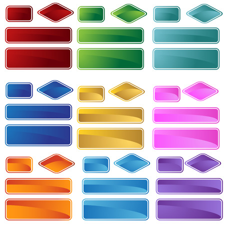 rounded square triangle shape set Vector