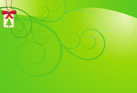 image size: Green Christmas Background vector illustration image scalable to any size. Illustration