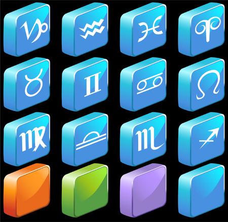 scalable: Zodiac Set vector illustration image scalable to any size. Illustration