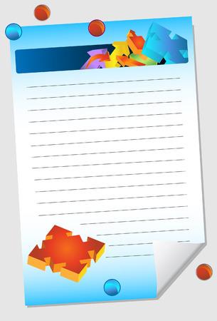 tack: arrow notepad Illustration