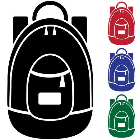 mochila: icono de mochila