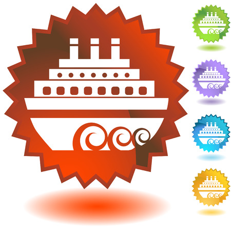 badge ship Vector
