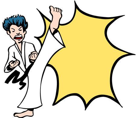 Karate Kick Stok Fotoğraf - 5596893