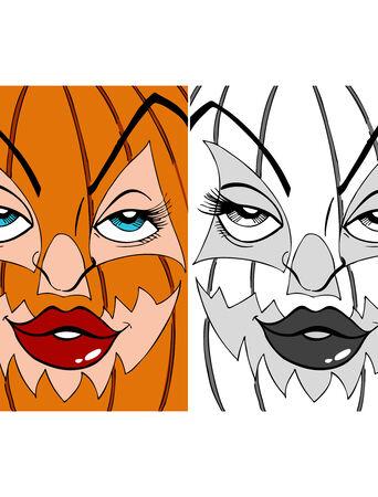Kürbis-Mask-Kunst  Standard-Bild - 5596898