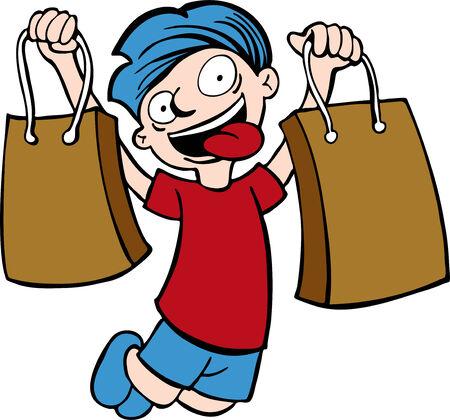 Shopping bag kid Ilustração