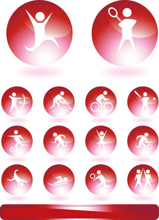 Sports Buttons isolated on a white background image. Stock Vector - 5611981