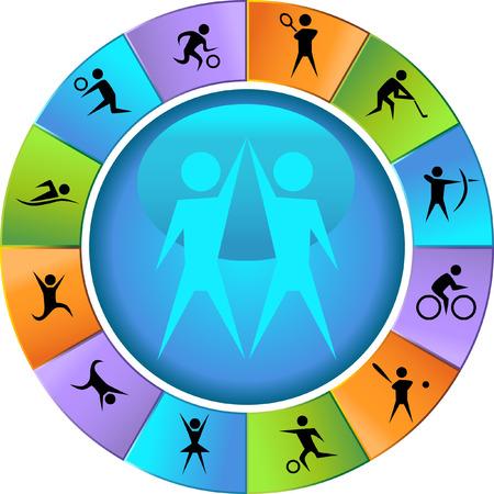 image size: Deportes de conjunto de iconos de rueda ilustraci�n imagen vectorial escalable a cualquier tama�o.